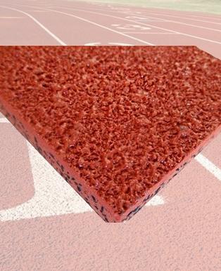 自结纹塑胶跑道材料